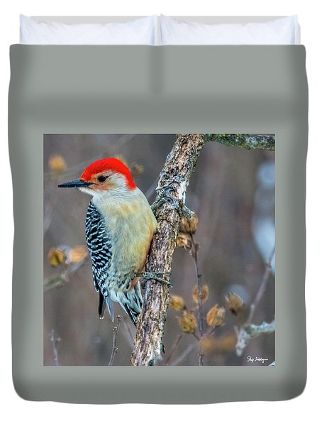 Redbellied Woodpecker Duvet Cover