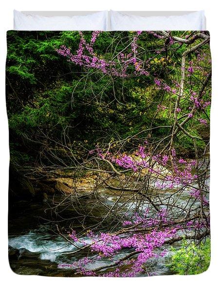 Redbud And River Duvet Cover