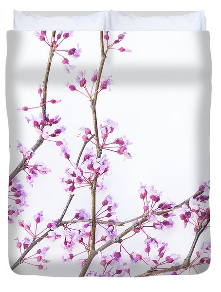 Duvet Cover featuring the photograph Redbud by Elena Nosyreva