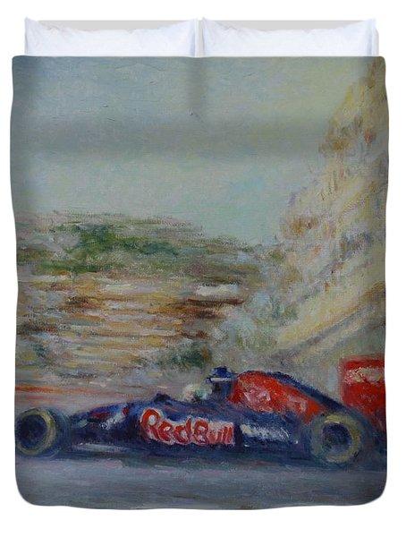 Redbull Racing Car Monaco  Duvet Cover