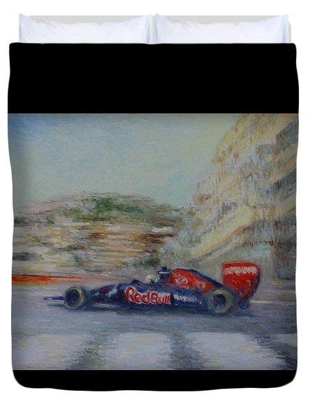 Redbull Racing Car Monaco  Duvet Cover
