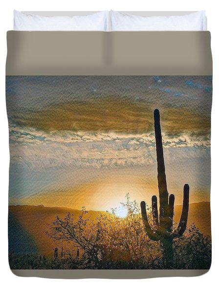 Duvet Cover featuring the photograph Reddington Ridge Sunrise Remix by Dan McManus