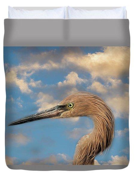 Duvet Cover featuring the photograph Reddish Egret by Kim Hojnacki