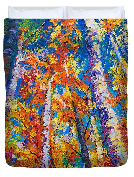 Redemption - Fall Birch And Aspen Duvet Cover