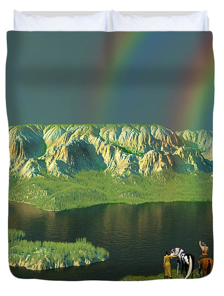 Redemption For An Angry Sky Duvet Cover