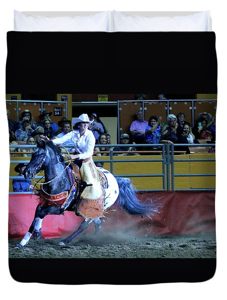 Duvet Cover featuring the photograph Rodeo Queen At The Grand National Rodeo by John King