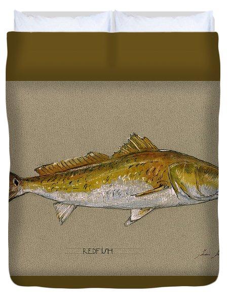 Redfish Painting  Duvet Cover
