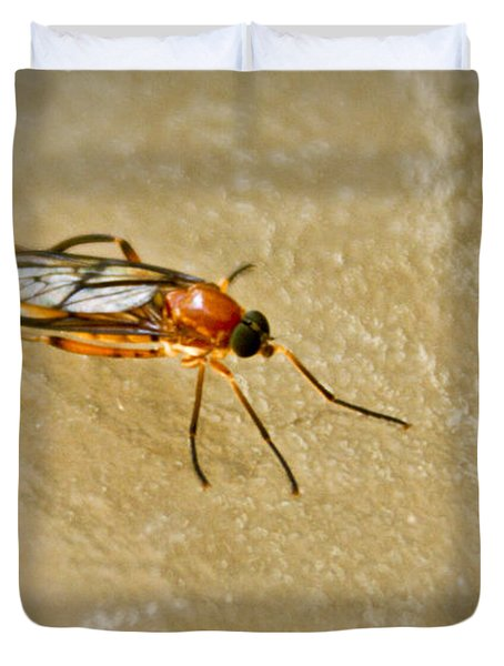 Redfly With Black Eyes Duvet Cover