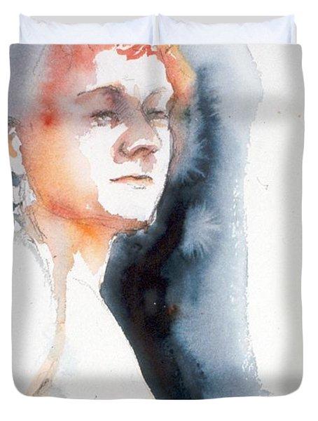 Redhead #1 Duvet Cover