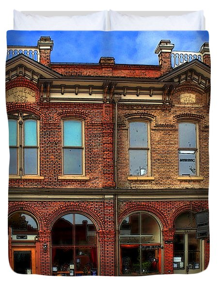 Redmens Hall - Jacksonville Oregon Duvet Cover by James Eddy