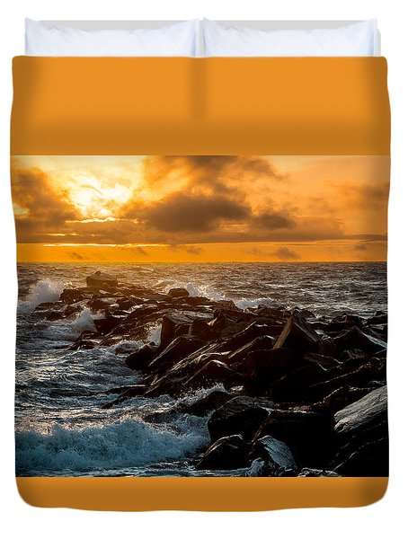 Redondo Beach Sunset Duvet Cover
