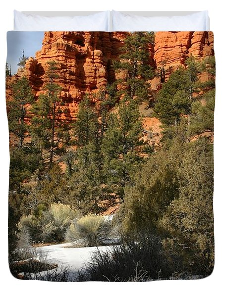 Redrock Winter Duvet Cover