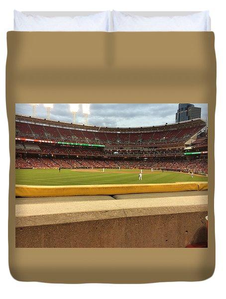 Reds Baseball Duvet Cover