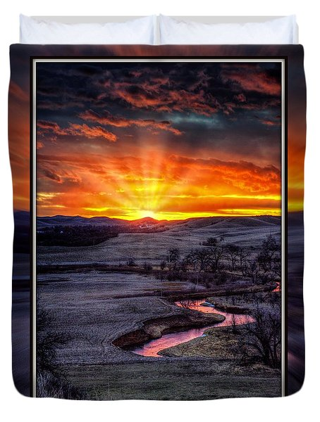 Redwater River Sunrise Duvet Cover
