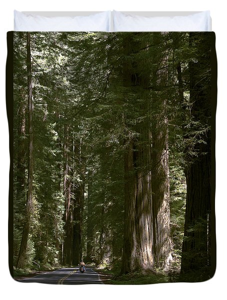 Redwood Highway Duvet Cover by Wes and Dotty Weber