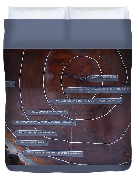 Redwood History Duvet Cover
