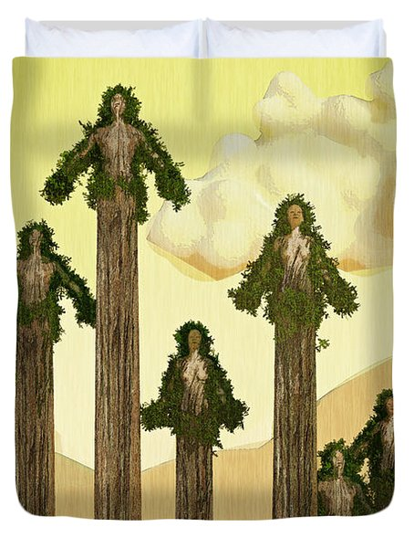 Redwood People Duvet Cover