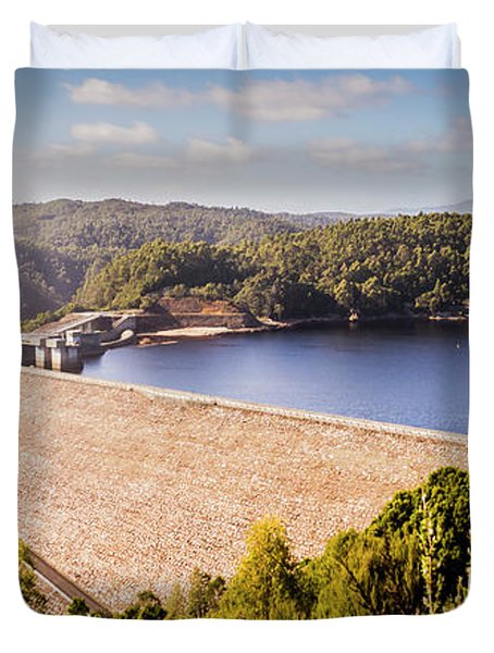 Reece Dam, Western Tasmania Duvet Cover