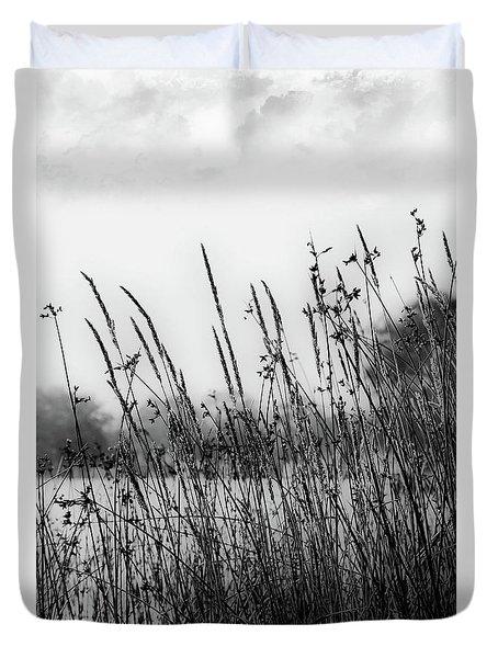 Reeds Of Black Duvet Cover