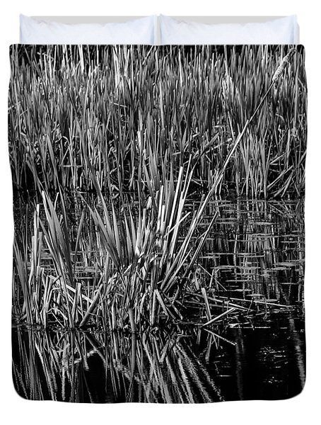Reeds Reflection  Duvet Cover
