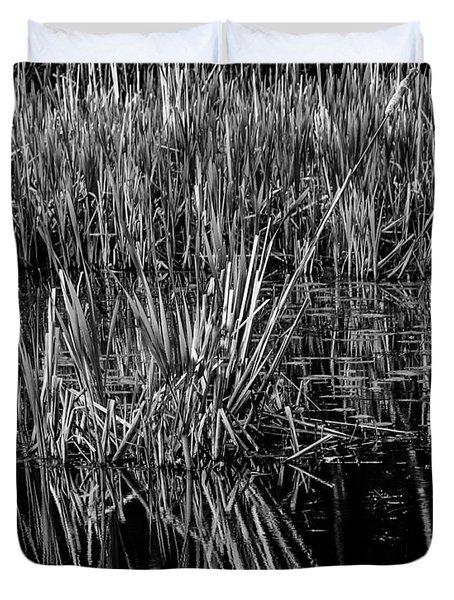 Reeds Reflection  Duvet Cover
