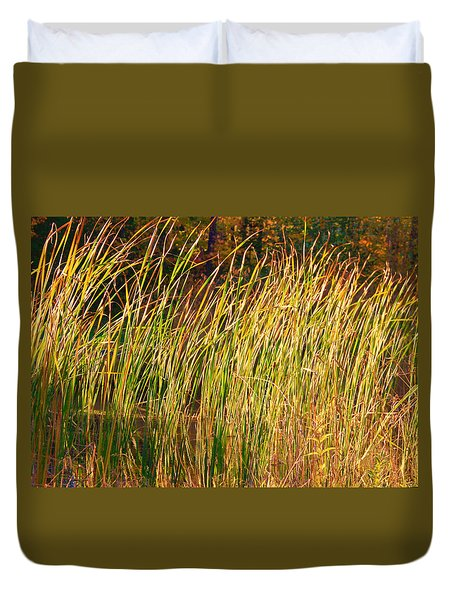 Duvet Cover featuring the photograph Reeds by Susan Crossman Buscho