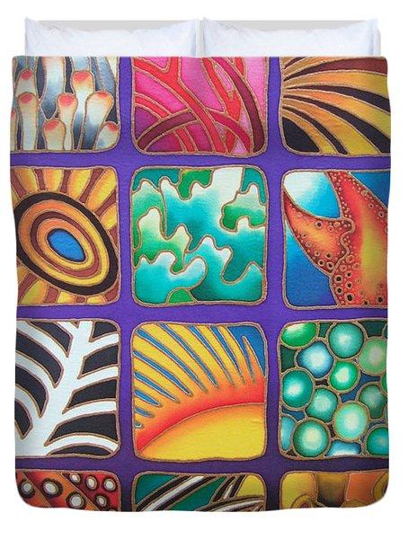Reef Designs Ix Duvet Cover