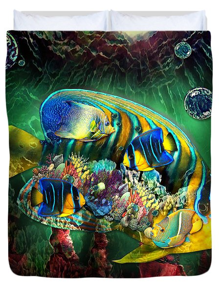 Reef Fish Fantasy Art Duvet Cover