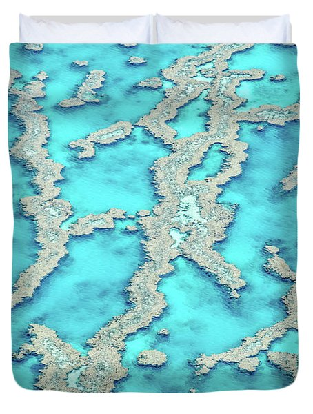 Duvet Cover featuring the photograph Reef Patterns by Az Jackson
