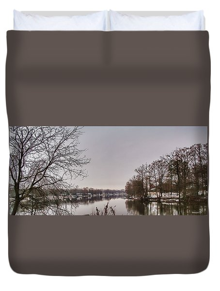 Duvet Cover featuring the photograph Reelfoot Lake Wash Out by Bonnie Willis