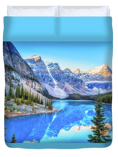 Reflect On Nature Duvet Cover by James Heckt