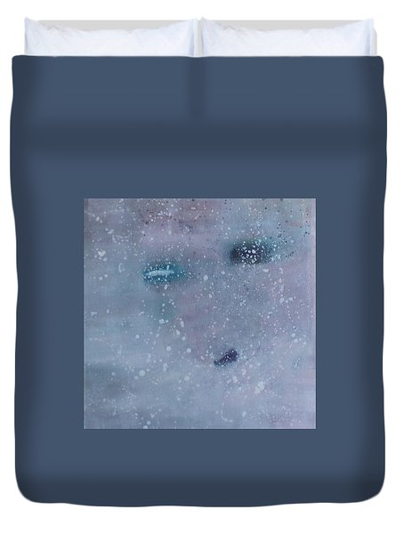 Duvet Cover featuring the painting Self-examination by Min Zou