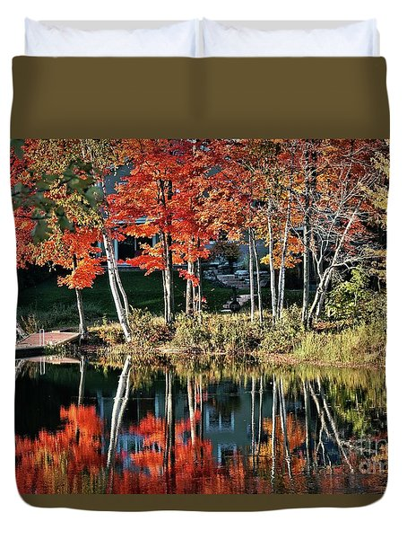 Reflected Beauty Duvet Cover by Aimelle
