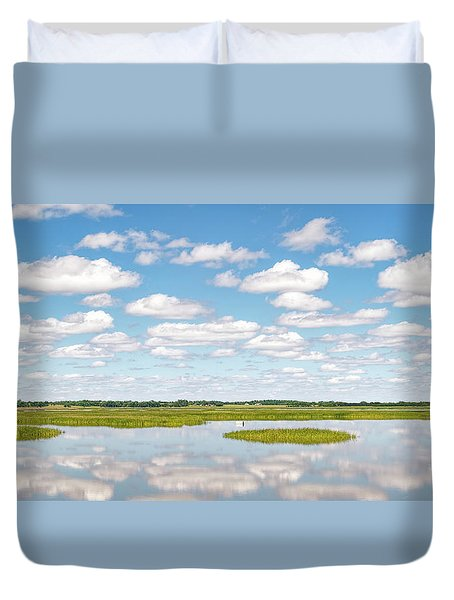 Reflected Clouds - 01 Duvet Cover