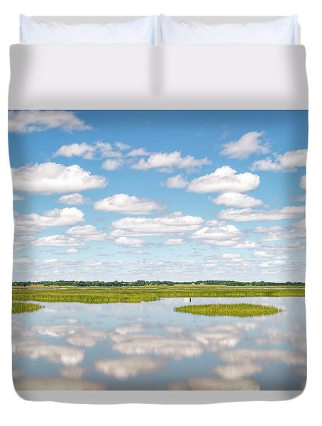 Reflected Clouds - 02 Duvet Cover