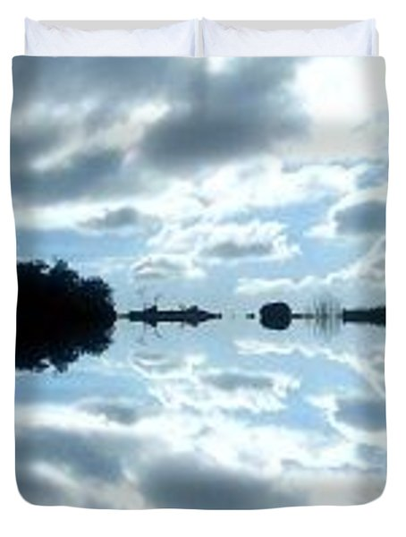 Reflected Clouds Duvet Cover