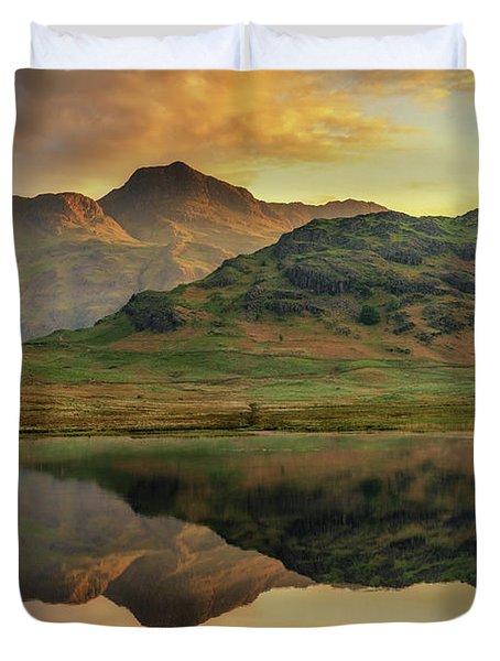 Reflected Peaks Duvet Cover
