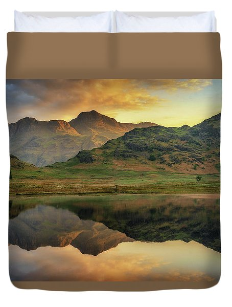 Duvet Cover featuring the photograph Reflected Peaks by James Billings