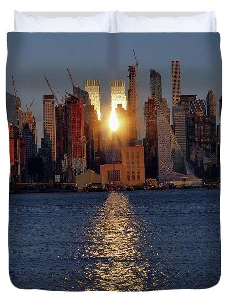 Reflected Sunset Duvet Cover