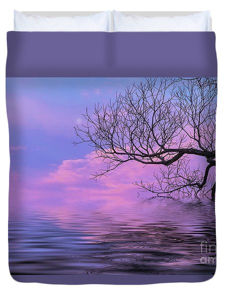 Reflecting On Life Duvet Cover by Nancy Marie Ricketts