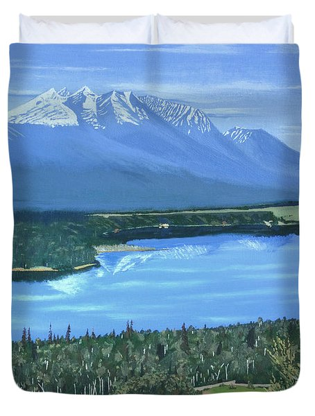 Reflecting Across The Valley Duvet Cover