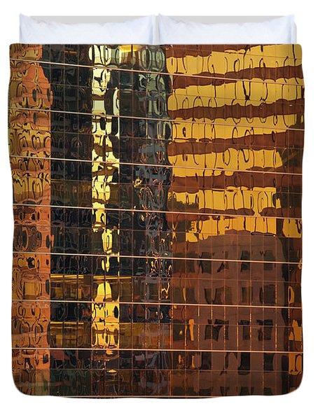 Reflecting Chicago Duvet Cover by Steve Gadomski