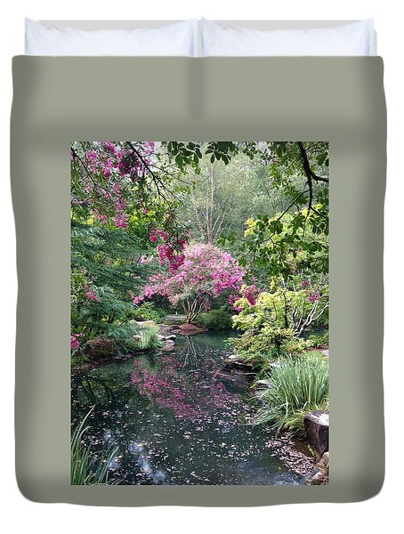 Reflecting Crape-myrtles Duvet Cover