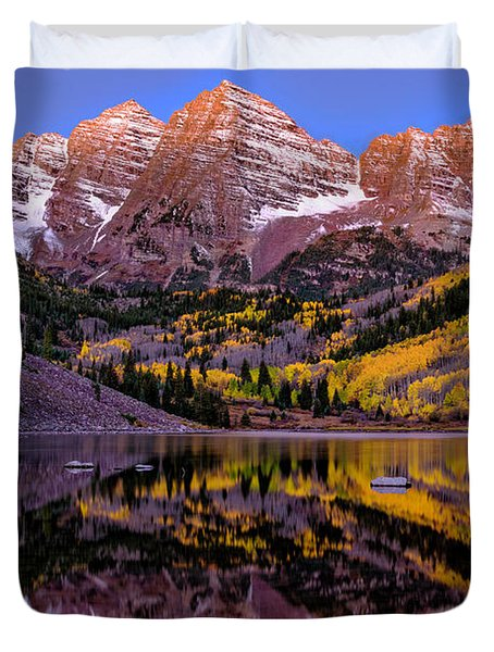 Reflecting Dawn Duvet Cover