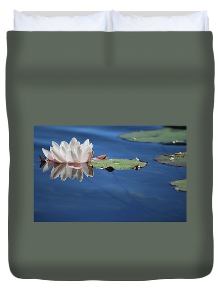 Reflecting In Blue Water Duvet Cover