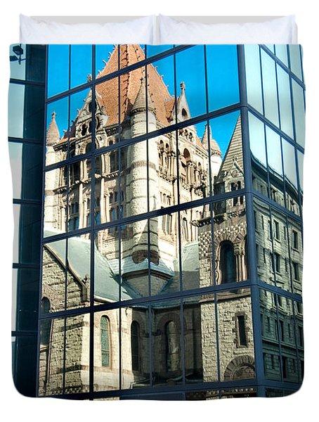Reflecting On Religion Duvet Cover