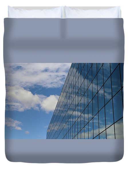 Reflecting On Today Duvet Cover by Jeremy Tamsen
