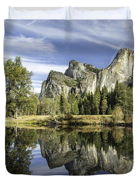 Reflecting On Yosemite Duvet Cover