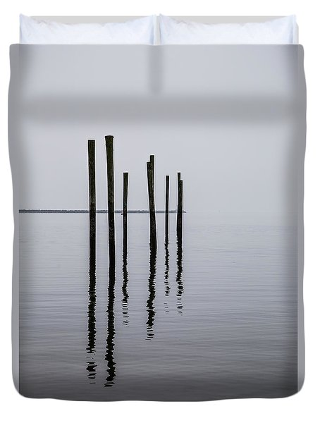 Reflecting Poles Duvet Cover