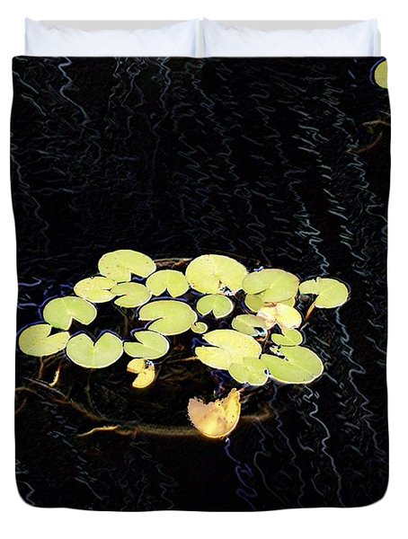 Reflecting Pool Lilies Duvet Cover by Tim Allen